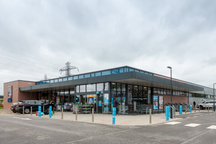 Aldi, Hyndburn Retail Park, Blackburn, Lancashire