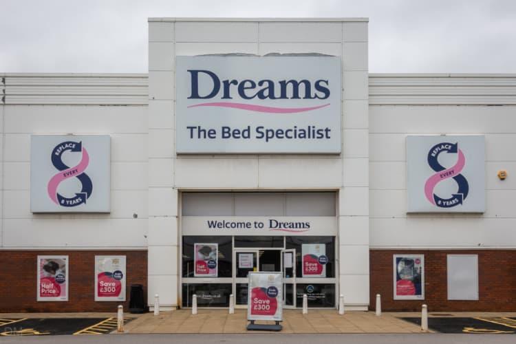 Dreams bed shop, Blackburn, Lancashire