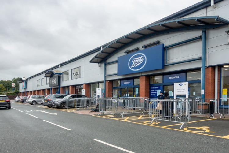 Next and Boots stores in Blackburn