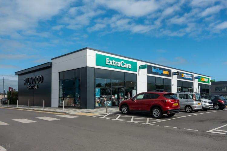 ExtraCare, Indigo Sun, Greggs, and Subway at Fulwood Central, Preston