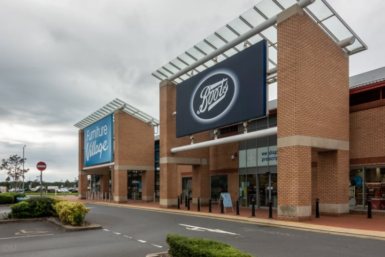 Boots and Furniture Village, Capitol Centre, Preston