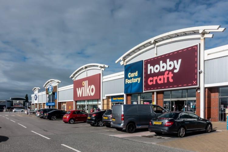 Wilko, Card Factory, and Hobbycraft stores in Preston
