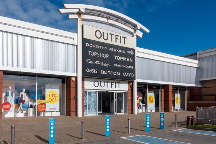 Outfit store at Deepdale Retail Park, Preston
