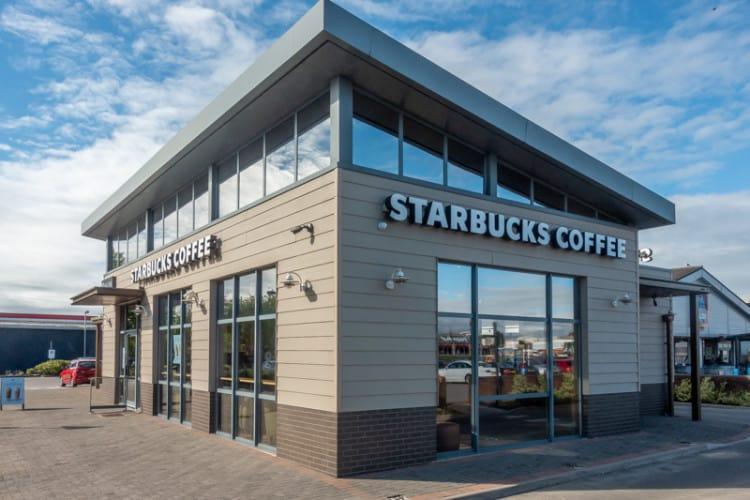 Starbucks at Deepdale Shopping Park, Preston