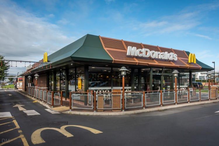 McDonald's restaurant at Deepdale Retail Park, Preston, Lancashire