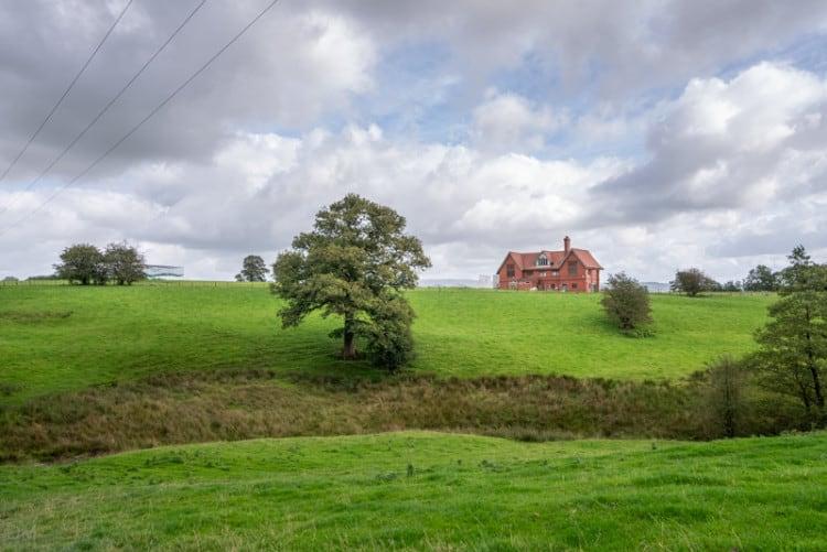 View of Stonyhurst College cricket pavillion
