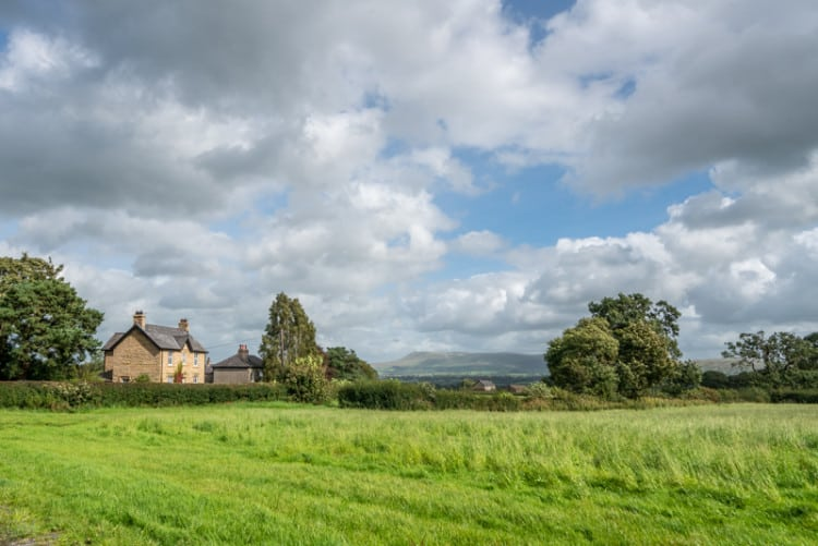 View of Pendle Hill from Woodfields, Stonyhurst