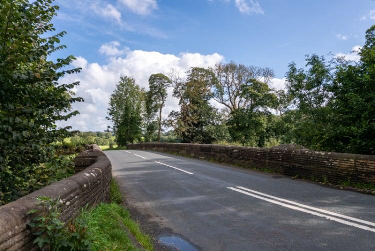 Lower Hodder Bridge and the B6243