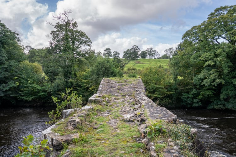 Walking over Cromwell's Bridge