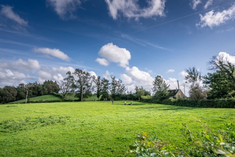 Path across field near Knowles Brow