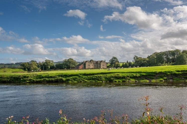 River Ribble and Hacking Hall, Lancashire