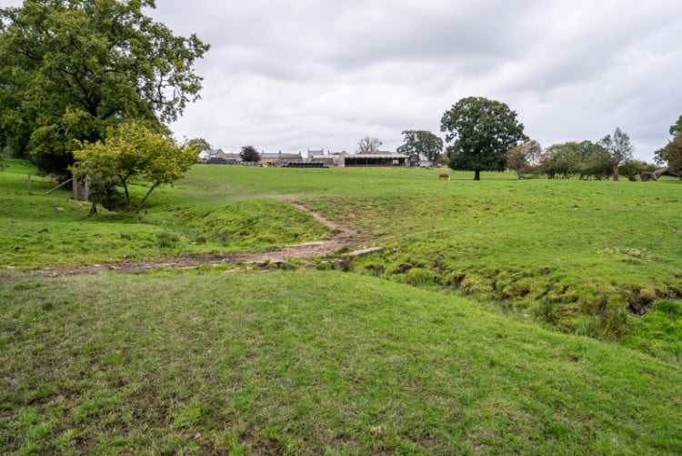 Farm buildings in Hurst Green, Lancashire