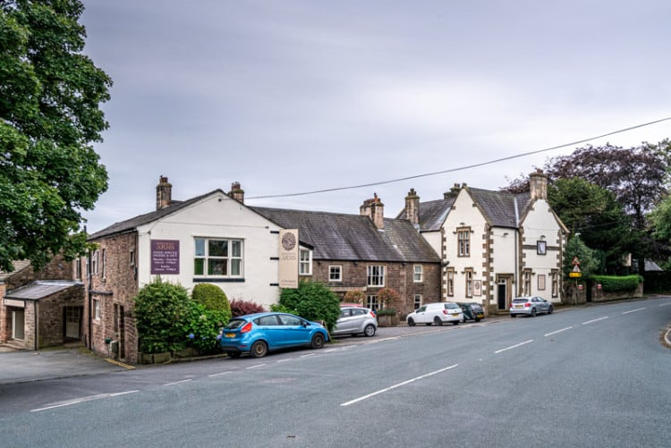 Shireburn Arms Hotel and Whalley Road, Hurst Green, Lancashire