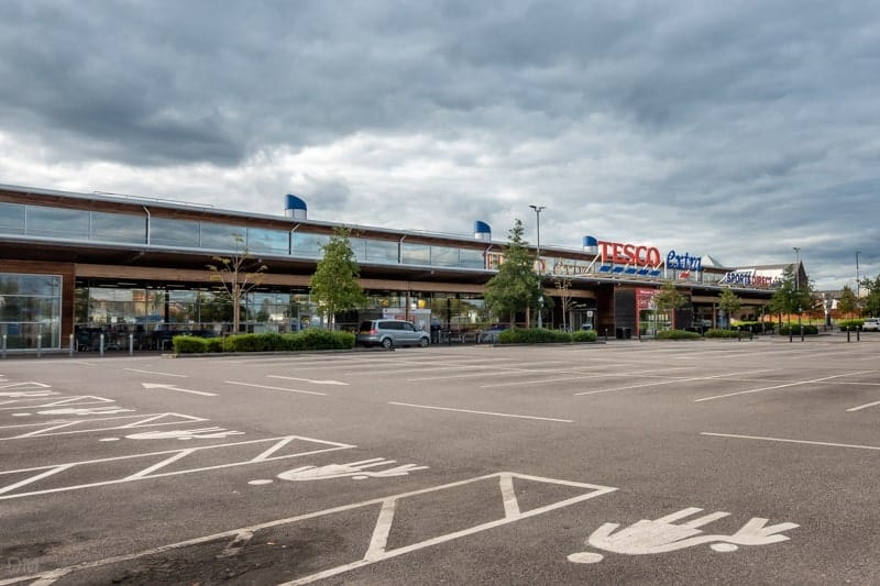 Tesco supermarket in Leigh, Greater Manchester