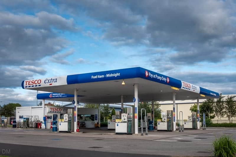Petrol station in Leigh