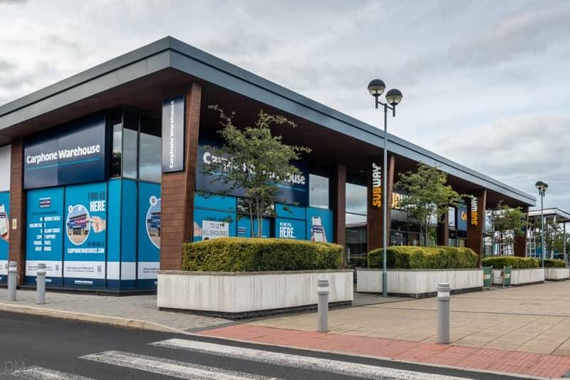 Carphone Warehouse and Subway at Robin Retail Park in Wigan