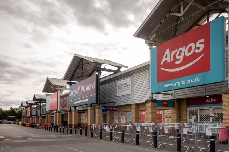 Home Bargains, Currys PC World, and Argos at Parsonage Retail Park