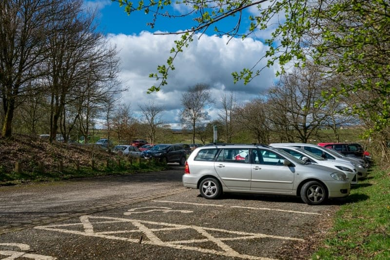 Trawden Road Car Park at Wycoller Country Park, Pendle
