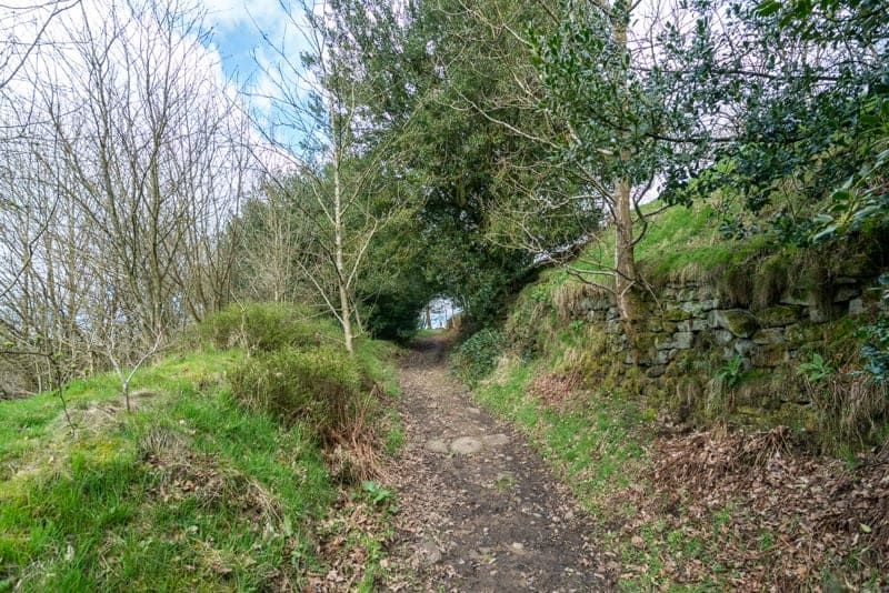 Track behind Wycoller Hall