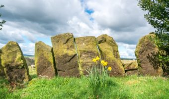 Stone walls at Wycoller Country Park