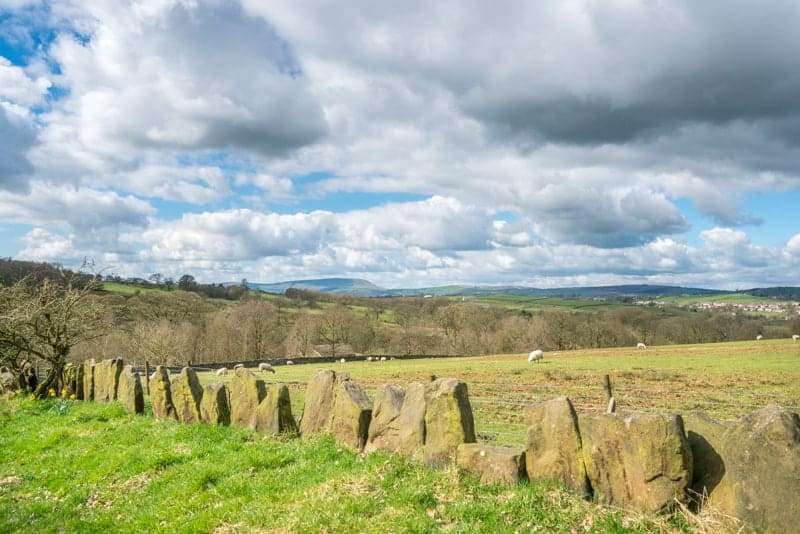 Medieval stone walls at Wycoller Country Park, Pendle, Lancashire