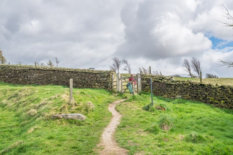Kissing gate in stone wall, Pendle, Lancashire