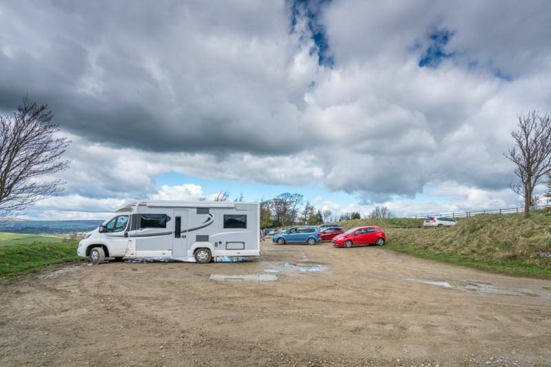 Haworth Road Car Park at Wycoller Country Park, The Atom, Lancashire Moor Road