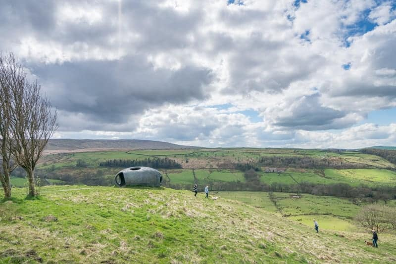 Walkers at The Atom, Panopticon, Pendle, Lancashire
