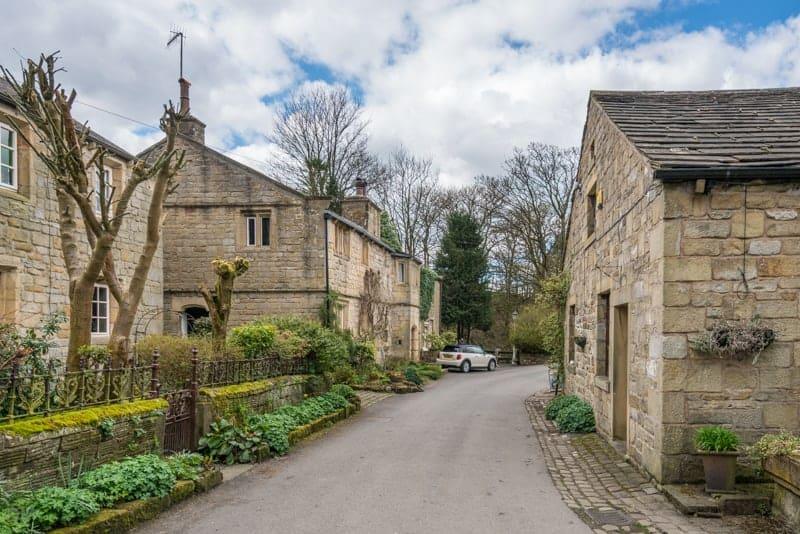 Cottages at Wycoller village, Lancashire