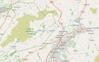 Map of Pendle