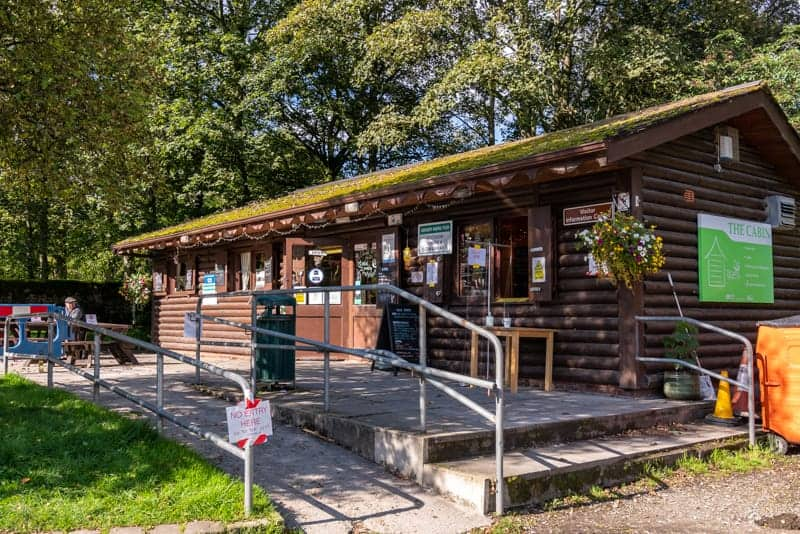 The Cabin cafe and visitor information centre at Barley Picnic Site, Barley, Pendle, Lancashire
