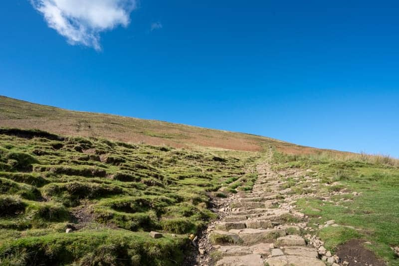 Steps up Pendle Hill