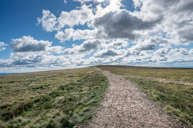 Path to triangulation pillar, Pendle Hill