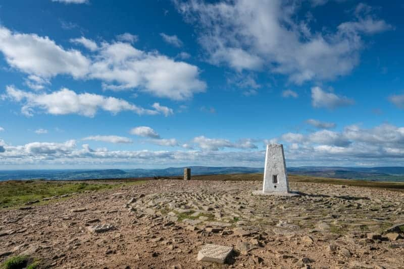 Trig point, Pendle Hill, Lancashire