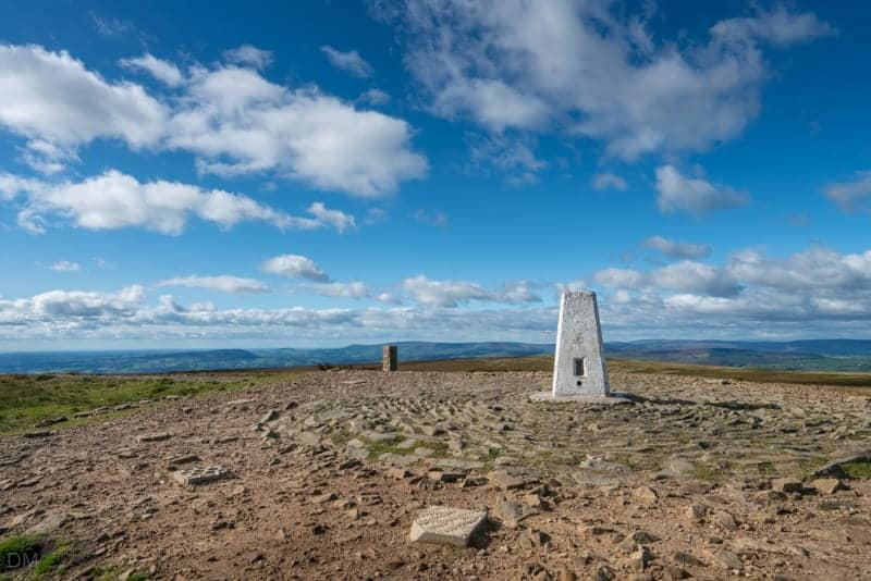 Trig point on Pendle Hill