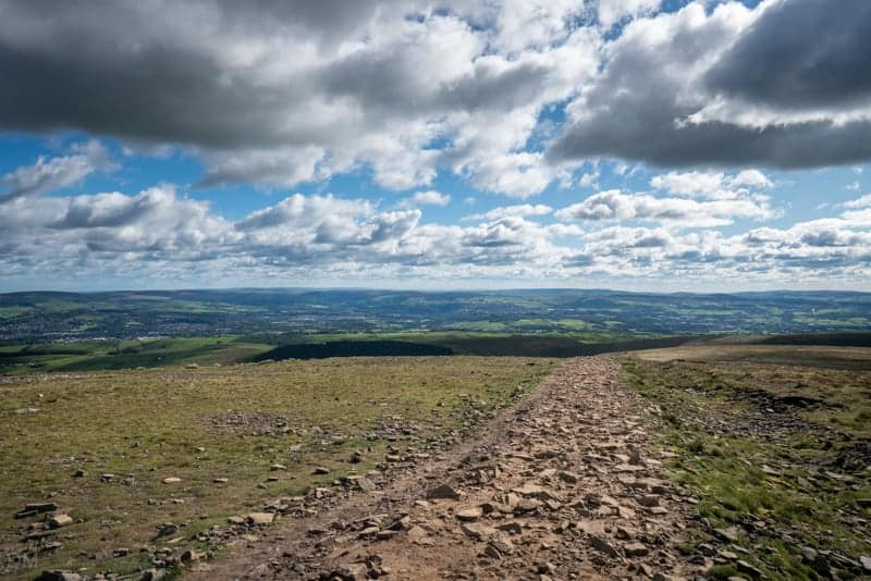 Path south from top of Pendle Hill