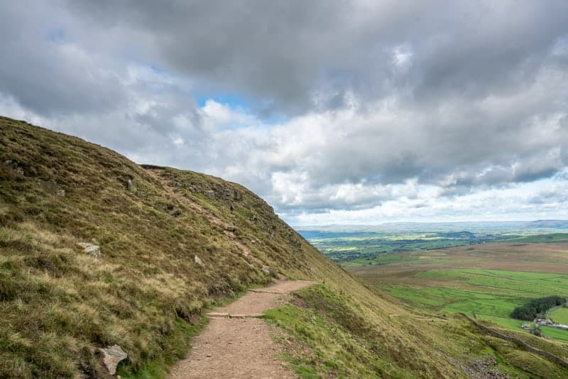 'Slope' path on eastern side of Pendle Hill