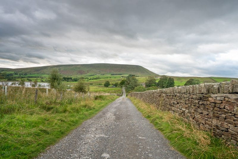 Pendle Hill viewed from Barley Lane, near Black Moss Reservoirs