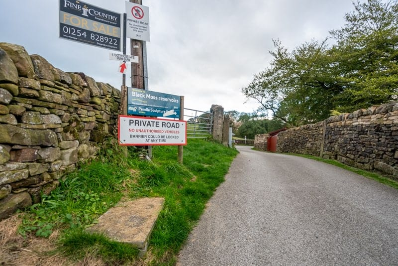 Private vehicles not permitted on Barley Lane