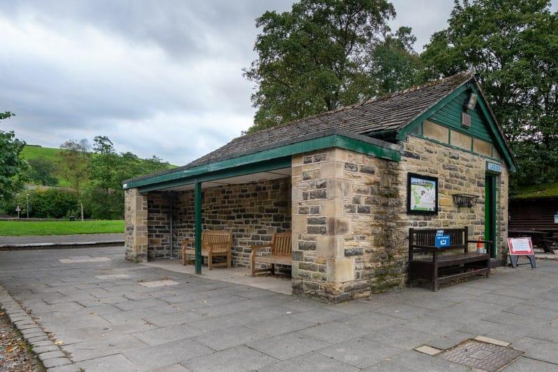 Toilets and shelter at Barley Picnic Site