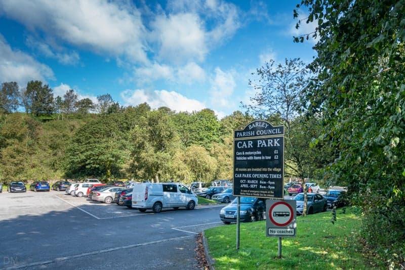 Car park at Barley Picnic Site, Barley, Pendle, Lancashire