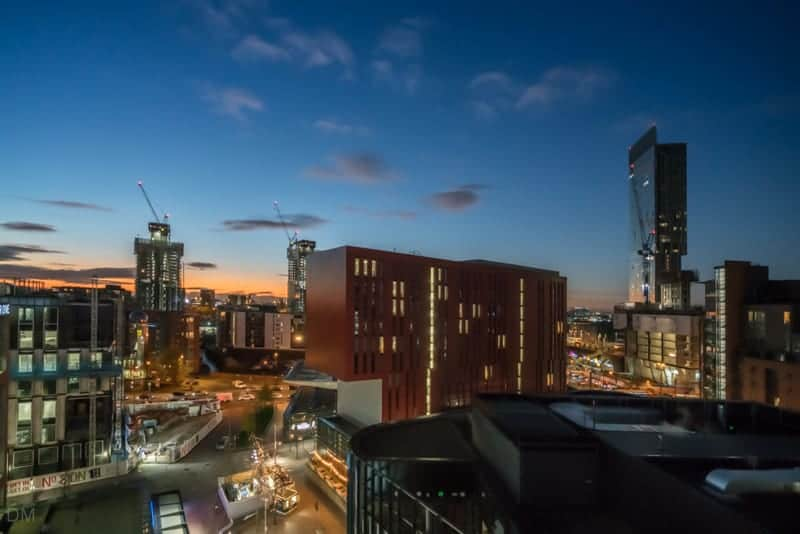 View of Innside by Melia, Beetham Tower, and Hacienda, Manchester