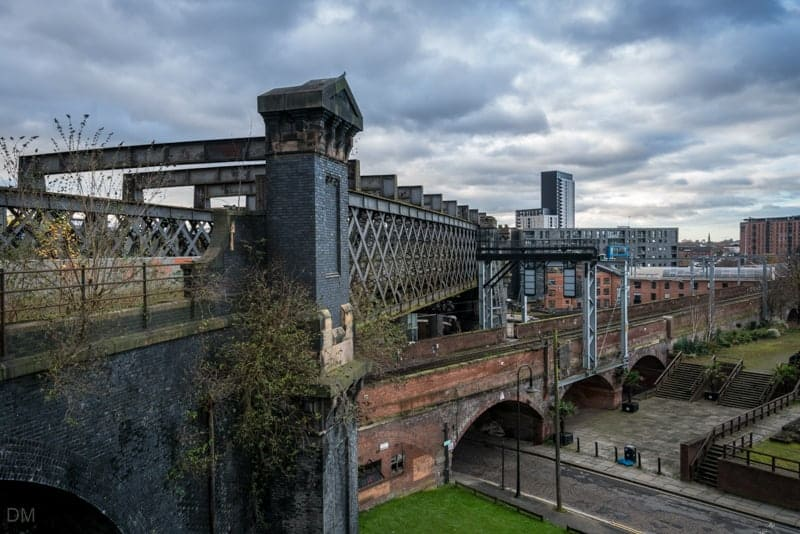Railway viaducts in Castlefield, Manchester