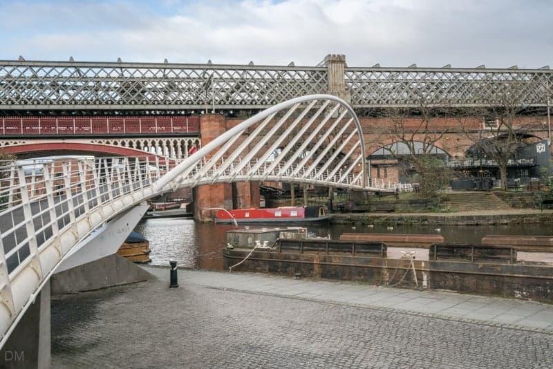 Merchant's Bridge footbridge in Castlefield, Manchester
