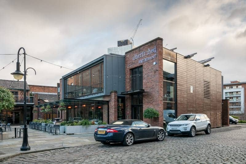Albert's Shed restaurant and bar, Manchester