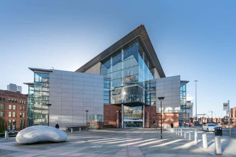 Barbirolli Square and Bridgewater Hall, Manchester