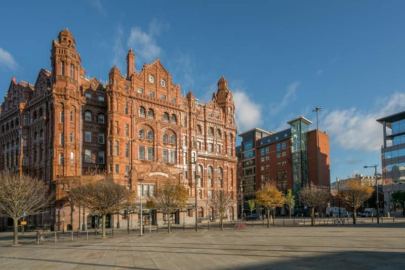 Midland Hotel and Windmill Street, Manchester