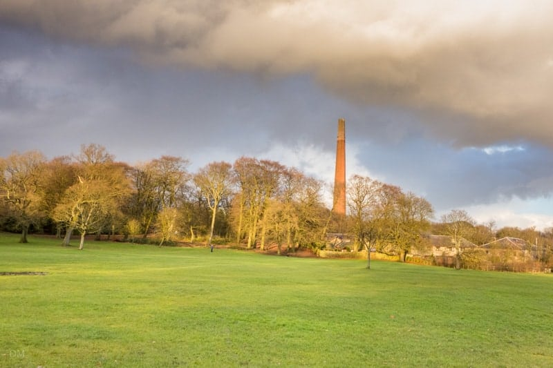 Moss Bank Park and Barrow Bridge Chimney, Bolton
