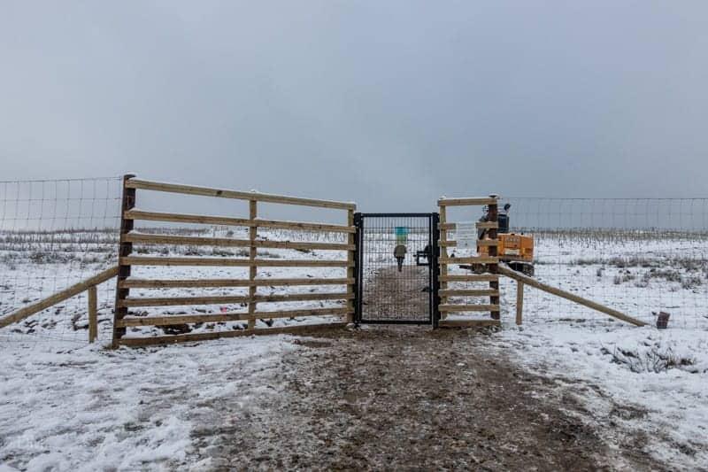 Gate at top of Walker Fold Road Car Park
