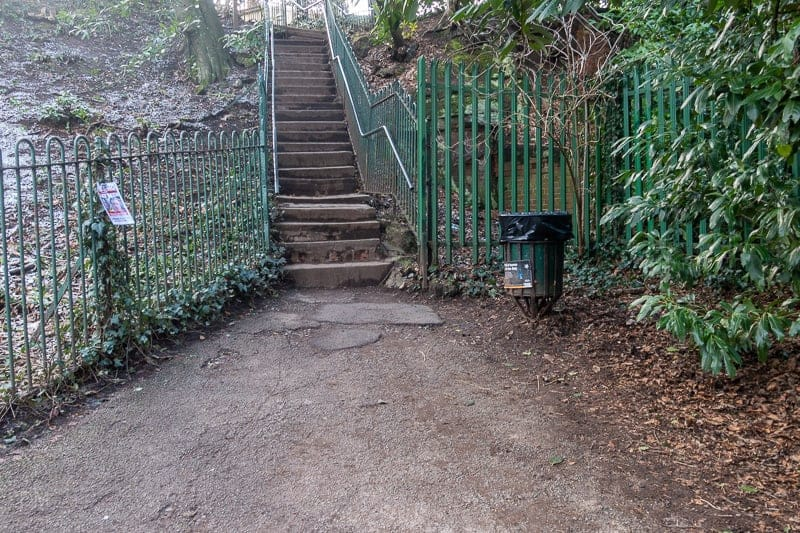 Steps from The Dingle to A56